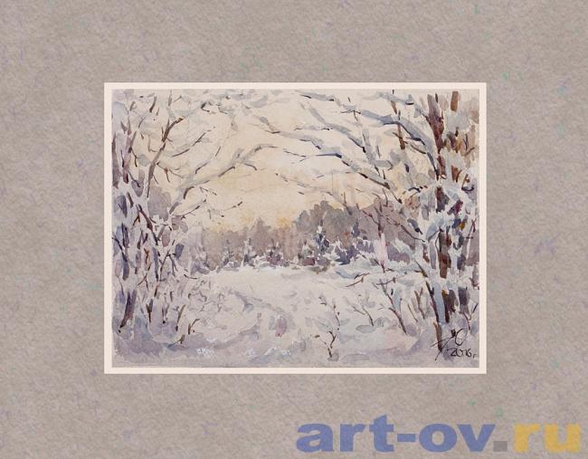 Зимний лес 04
