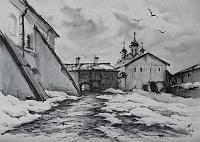 В стенах монастыря 02 Ферапонтово. Март.