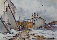 В стенах монастыря 03 Ферапонтово. Март.
